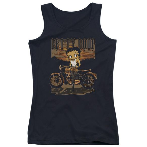Betty Boop Rebel Rider Juniors Tank Top