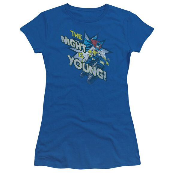 Dc The Night Is Young Short Sleeve Junior Sheer Royal T-Shirt