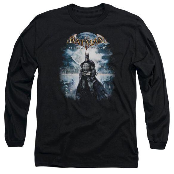 BATMAN AA GAME COVER - L/S ADULT 18/1 - BLACK T-Shirt