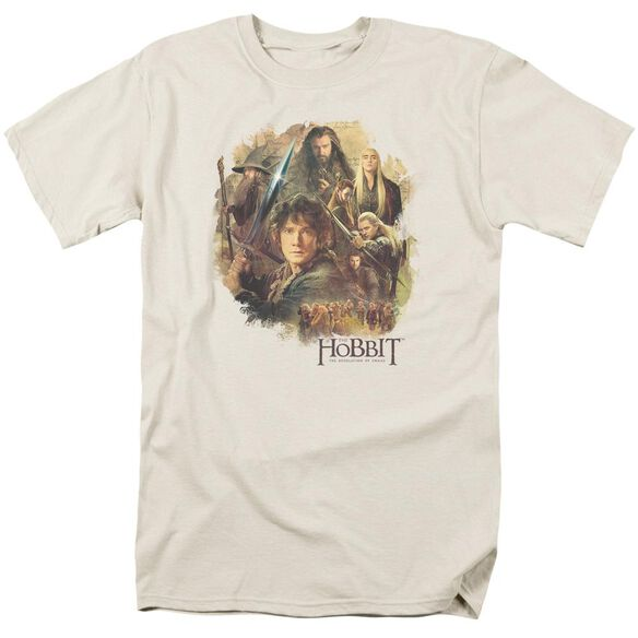 Hobbit Collage Short Sleeve Adult Cream T-Shirt