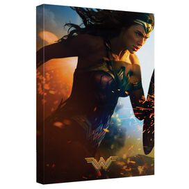 Wonder Woman Movie Poster 1 Canvas Wall Art With Back Board