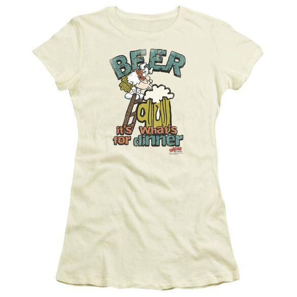 Hagar The Horrible Beer, Dinner Short Sleeve Junior Sheer T-Shirt