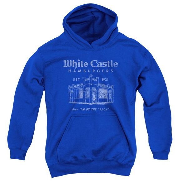 White Castle By The Sack Youth Pull Over Hoodie Royal