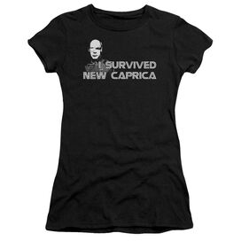 Bsg I Survived New Caprica Short Sleeve Junior Sheer T-Shirt