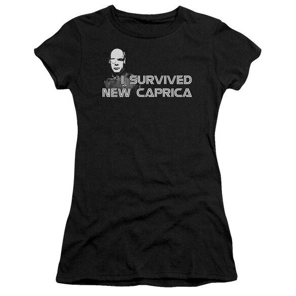 Bsg I Survived New Caprica Short Sleeve Junior Sheer T-Shirt