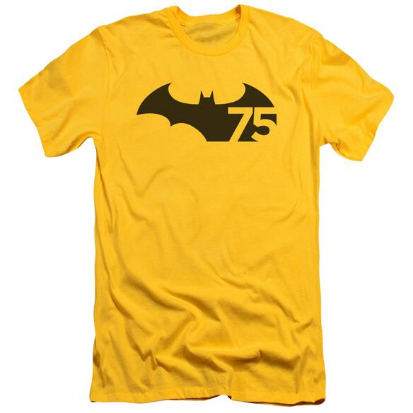 Batman 75 Logo Short Sleeve Adult T-Shirt