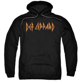 Def Leppard Horizontal Logo Adult Pull Over Hoodie