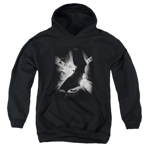 Batman Begins Bw Poster Youth Pull Over Hoodie