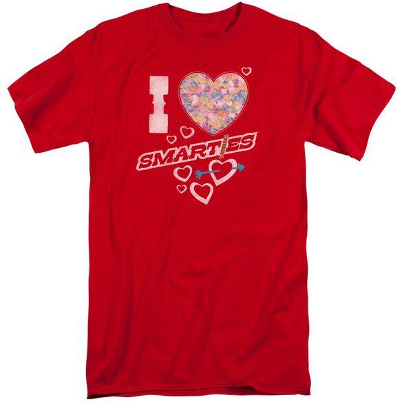 Smarties I Heart Smarties Short Sleeve Adult Tall T-Shirt