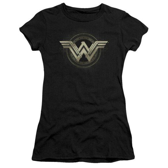Batman V Superman Ancient Emblems Short Sleeve Junior Sheer T-Shirt