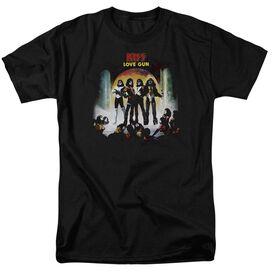 Kiss Lover Gun Cover Short Sleeve Adult T-Shirt