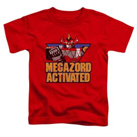 Power Rangers Megazord Activated Short Sleeve Toddler Tee Red T-Shirt