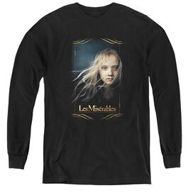 Les Miserables Cosette - Youth Long Sleeve Tee - Black