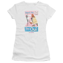 PINK PANTHER SAY OUI - S/S JUNIOR SHEER - WHITE T-Shirt