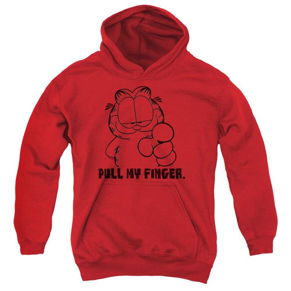 Garfield Pull My Finger Youth Pull Over Hoodie