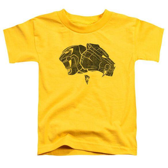 Power Rangers Yellow Short Sleeve Toddler Tee Yellow T-Shirt