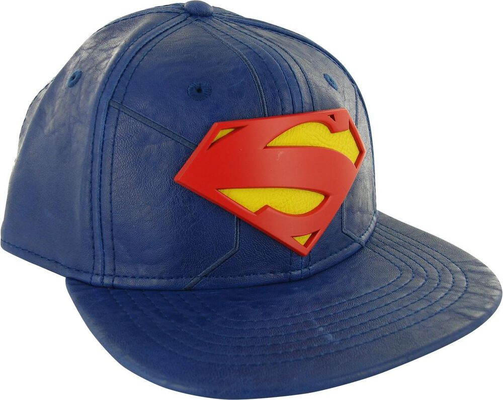 Superman Suit Up Metal Badge Snapback Hat  05701879d4d