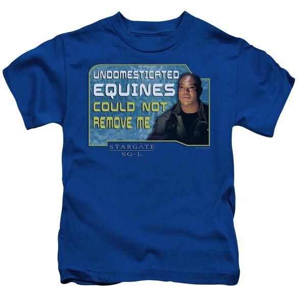 Sg1 Dedicated Short Sleeve Juvenile Royal Blue T-Shirt