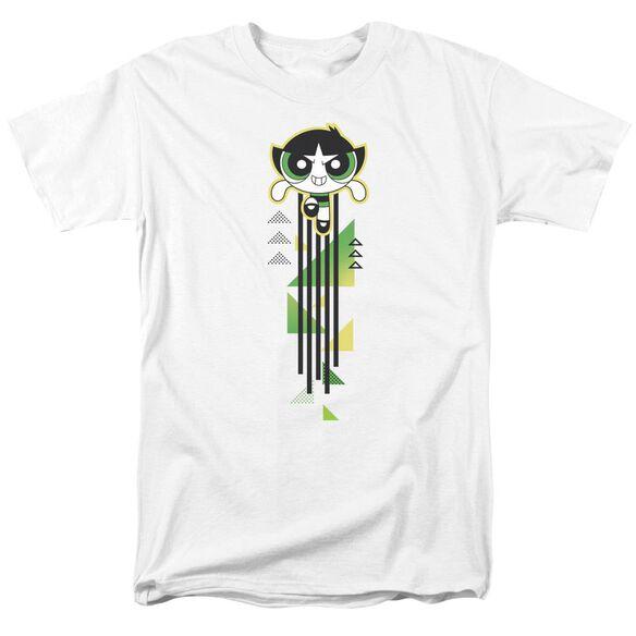 Powerpuff Girls Buttercup Streak Short Sleeve Adult White T-Shirt