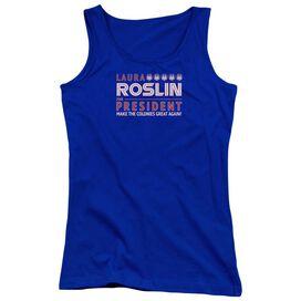 Bsg Roslin For President Juniors Tank Top Royal
