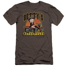 Betty Boop Bettys Motorcycles-premuim Canvas Adult Slim