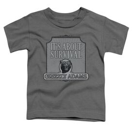 Grizzly Adams Survival Short Sleeve Toddler Tee Charcoal T-Shirt