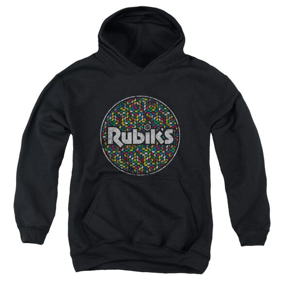 Rubik's Cube Circle Pattern Youth Pull Over Hoodie
