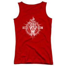 Constantine Damed To Hell Juniors Tank Top