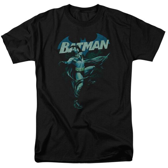 Batman Blue Bat Short Sleeve Adult T-Shirt