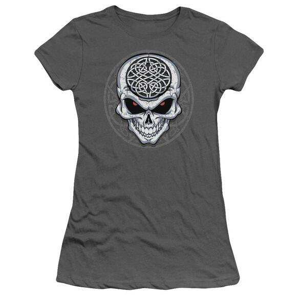 Celtic Skull Short Sleeve Junior Sheer T-Shirt