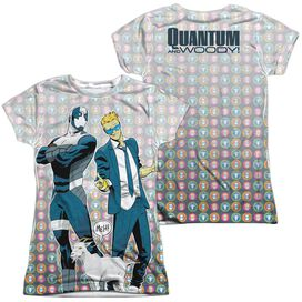 Quantum And Woody Bros (Front Back Print) Short Sleeve Junior Poly Crew T-Shirt