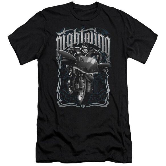 BATMAN NIGHTWING BIKER - S/S ADULT 30/1 - BLACK T-Shirt