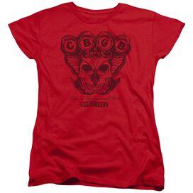 Cbgb Moth Skull Short Sleeve Womens Tee T-Shirt