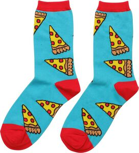 Pepperoni Pizza Slices Ladies Crew Socks