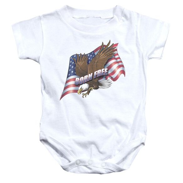 Born Free Infant Snapsuit White