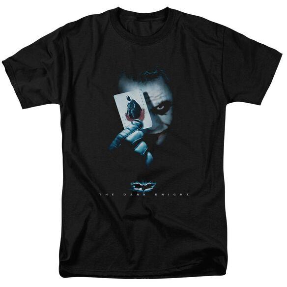 Dark Knight Joker Short Sleeve Adult Black T-Shirt