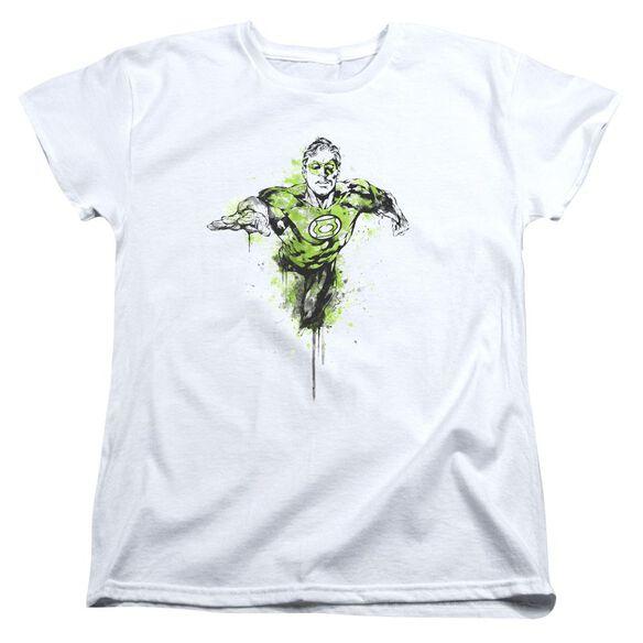 Green Lantern Inked Short Sleeve Womens Tee T-Shirt