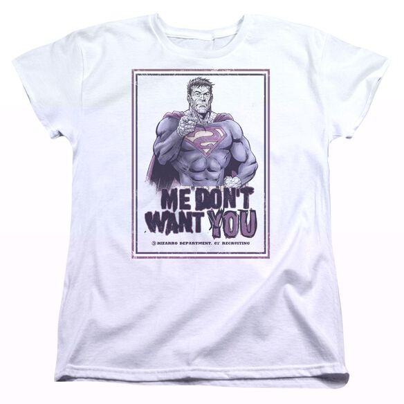 SUPERMAN DONT WANT YOU - S/S WOMENS TEE - WHITE T-Shirt