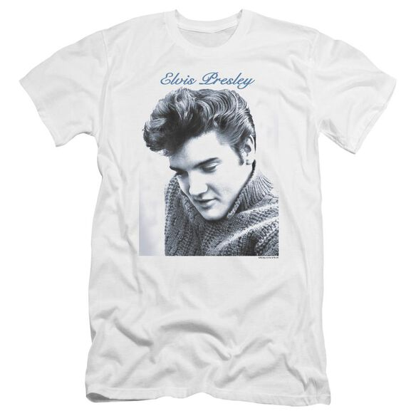 Elvis Script Sweater Premuim Canvas Adult Slim Fit