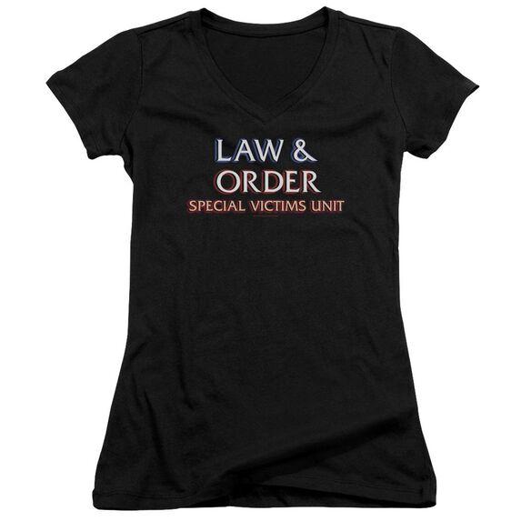 Law And Order Svu Logo Junior V Neck T-Shirt