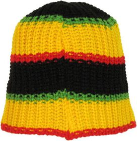 Bob Marley Stripes Knit Beanie
