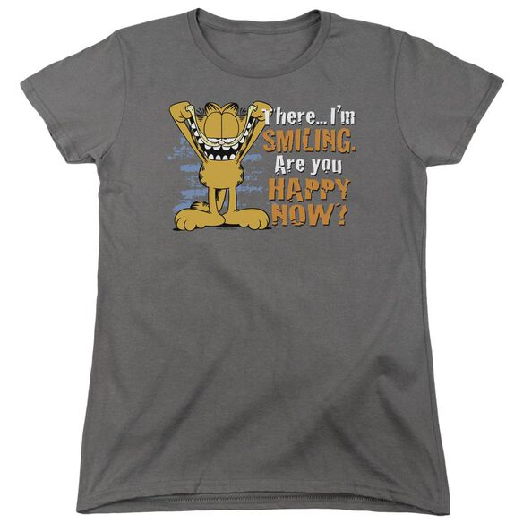 Garfield Smiling Short Sleeve Womens Tee T-Shirt