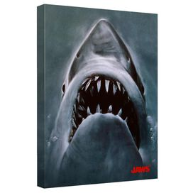 Jaws Shark Canvas Wall Art With Back Board