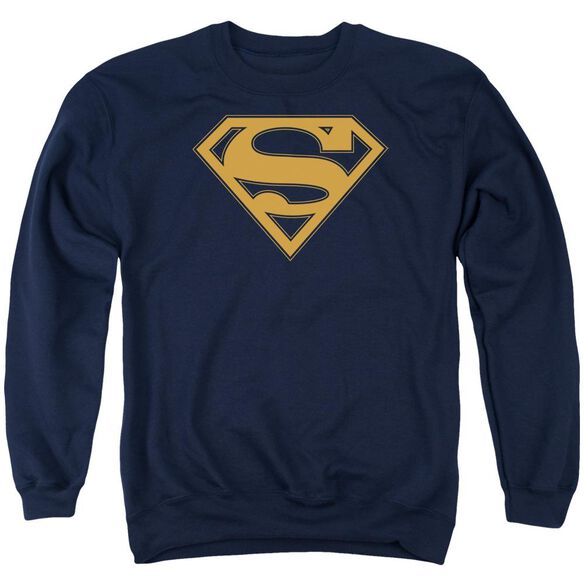 Superman &Amp; Orange Shield Adult Crewneck Sweatshirt