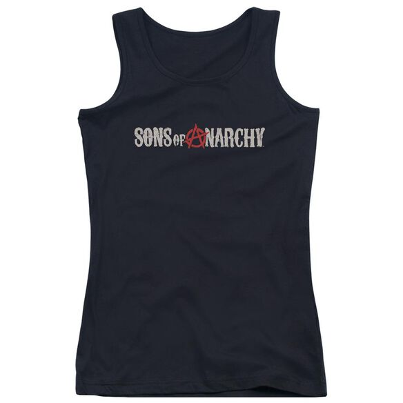 Sons Of Anarchy Beat Up Logo Juniors Tank Top