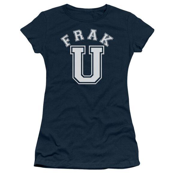 BSG FRAK U - S/S JUNIOR SHEER - NAVY T-Shirt