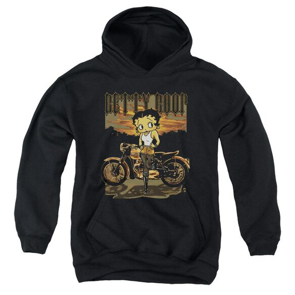 Betty Boop Rebel Rider Youth Pull Over Hoodie