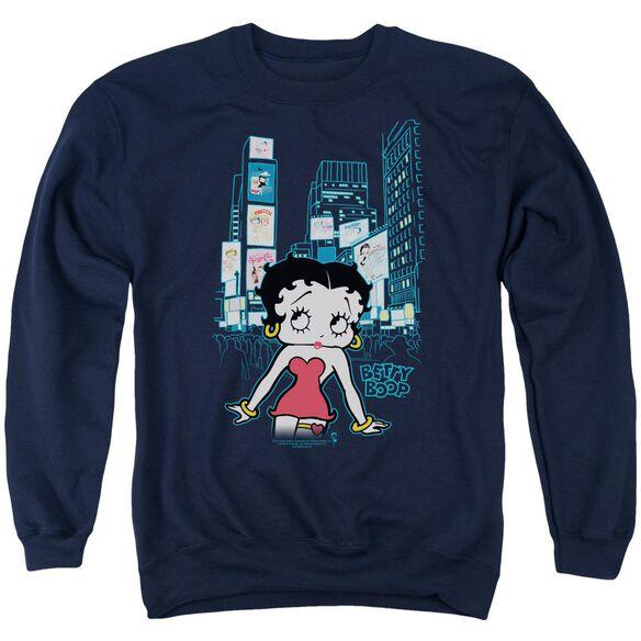 Betty Boop Square Adult Crewneck Sweatshirt