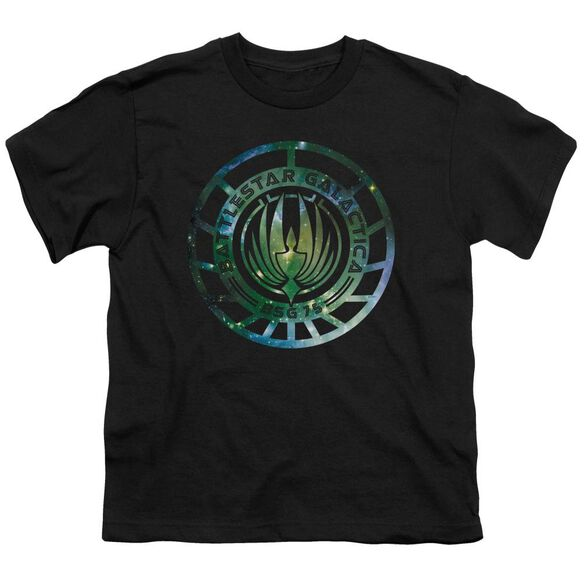 Battlestar Galactica (New) Galaxy Emblem Short Sleeve Youth T-Shirt