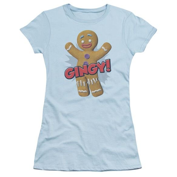 Shrek Gingy Short Sleeve Junior Sheer Light T-Shirt